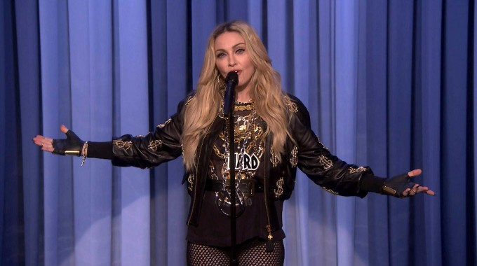 Madonna doing stand up comedy